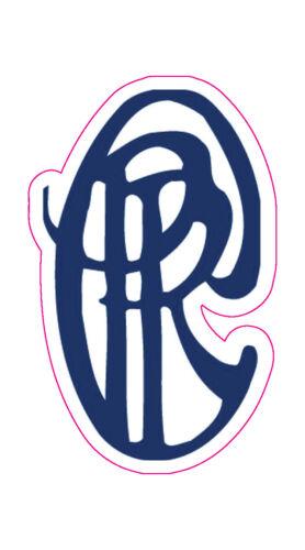 "Piping Rock Golf Club Logo Decal - 3"" x 1.75"""