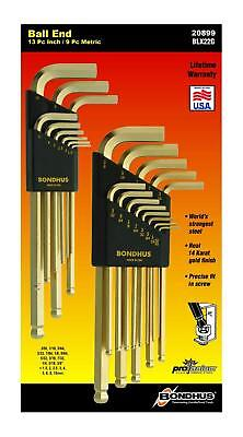 Allen Wrench Hex Key Set Bondhus Protanium Steel Ball End L Shape Gold Finish Bondhus Steel Hex Wrench