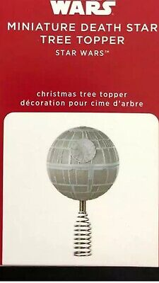 NEW 2020 Hallmark Mini MINIATURE DEATH STAR Wars Christmas TREE TOPPER ornament