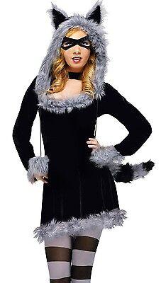 Raccoon Adult Sexy Furry Racy Racoon Dress Hoodie - S/M 2-8, M/L 10-14 -](Furry Raccoon)