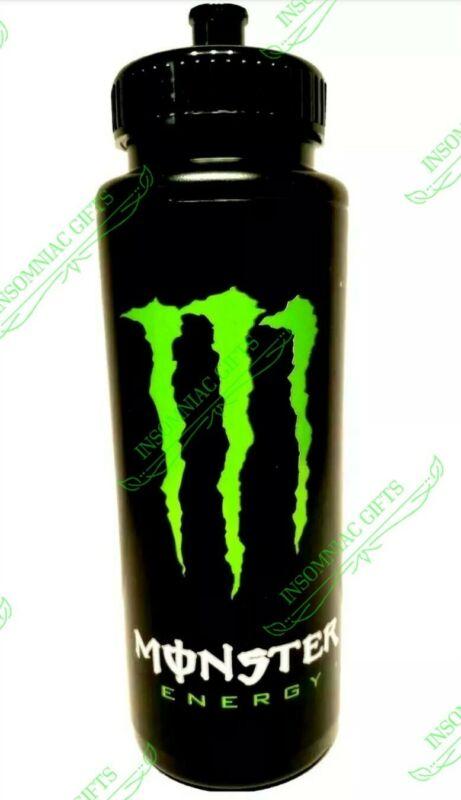 Monster Energy 32 oz Black Athletic Sports Water Bottle BRAND NEW