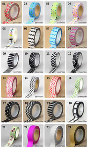 1pc-15mm-10m-Cute-Patterns-of-Love-flowers-animals-black-colors-Washi-Tape