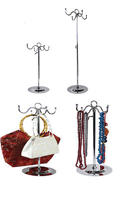 Taschenständer Schmuckständer 4 Haken höhenverstellbar Kettenständer Chorm