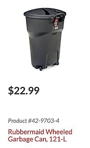 Rubbermaid roughneck garbage cans