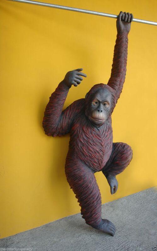 Orangutan Statue - Life Size Orangutan - Hanging Orangutan Statue Life Size 8FT