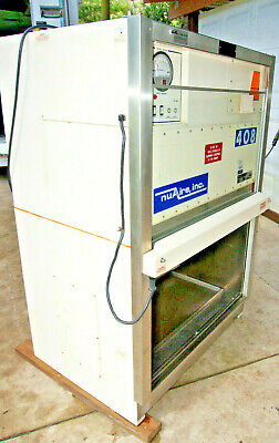 Nuaire Nu-408fm-300 Laminar Flow Bio Safety Cabinet And Stand 36 Wide Tested