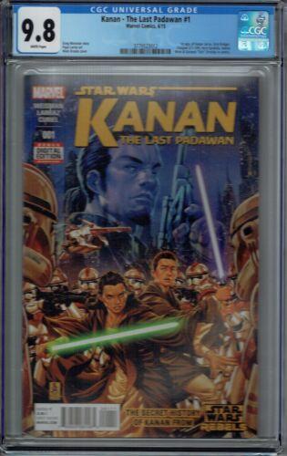 CGC 9.8 KANAN THE LAST PADAWAN #1 1ST APPEARANCE SABINE WREN & KANAN STAR WARS