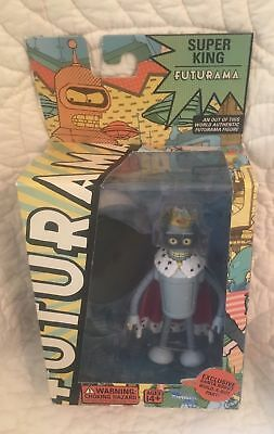 Futurama Super King Bender action figure build a bot santa robot part Toynami