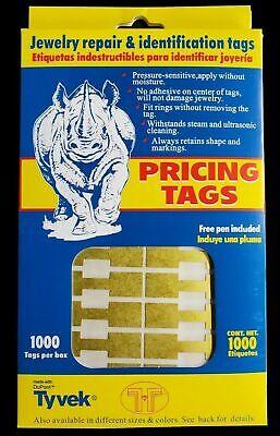 Merchandise Jewelry Price Tag Gold Round Sticker Style Label 500 Pcs