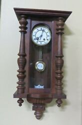 Antique German Wall Clock Fabrik Marke On Clock, Case says No. 985 On BAck