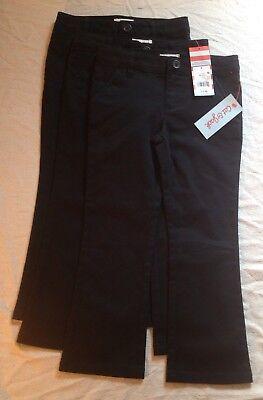 New! Lot Of Kids' School Uniform Pants Size 4, Black, 3 Pairs Cat & Jack Target