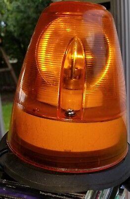 Vintage Magnetic Rotating Amber Beacon Emergency Light - commercial grade