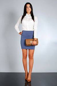 NEW Classic & Elegant Women's Skirt High Waist Mini Pencil Sizes 8-16 FA05