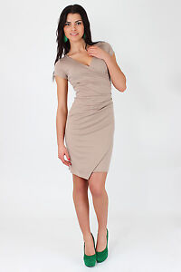 ☼ Very Elegant Wiggle Dress ☼ V-Neck Pencil Party Formal Size 8-16 FA119