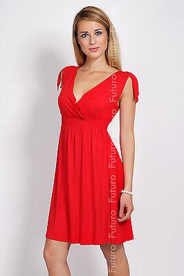 ☼ Sensible Women's V-Neck Dress ☼ Tunic Style Ribbing Sleeveless Size 8-12 8430