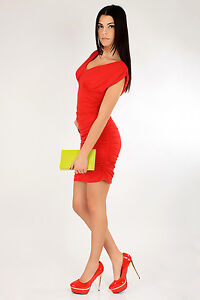 ☼ Stunning & Sexy Casual Women's Dress ☼  V-Neck Party Bodycon Sizes 8-20 3911