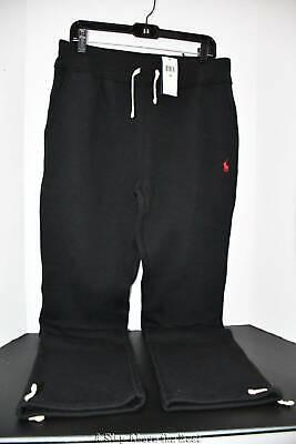 Polo Ralph Lauren Soft Fleece Drawstring Pants in Black Size: Medium #7105486200