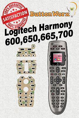 Logitech Harmony 600 650 665 700 Remote Control Button Repair -Full Kit w/deoxit