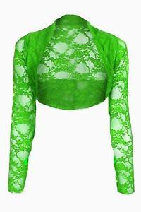 Womens-Lace-Bolero-Long-Sleeve-Shrug-Sizes-UK-S-M-L-XL