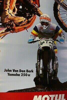 Affiche moto cross champion monde 125 250 cc 1988 jm bayle j van den berk motul