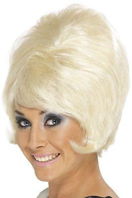 Damen 60er Jahre 1960er Bienenstock Kostüm Perücke Junggesellinnenabschied Blond ()