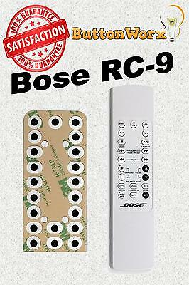 Bose RC-9 RC-9A Remote **BUTTON REPAIR KIT** for Lifestyle 3,5,8,12-Music Center
