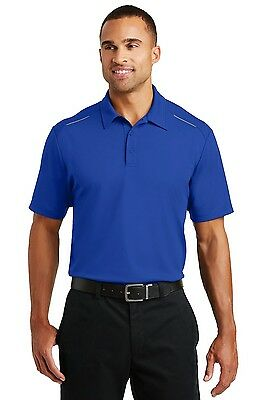 12 Custom Logo Embroidered Port Authority® Pinpoint Mesh Polo. K580 Shirts $23