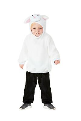 Kids White Lamb Costume Toddler Sheep Hooded Ears Child Boys Girls Halloween NEW](Costume Sheep Ears)