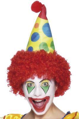 Erwachsene Clown Kostüm Hut mit Haaren Comedy Clown - Erwachsene Clown Hut