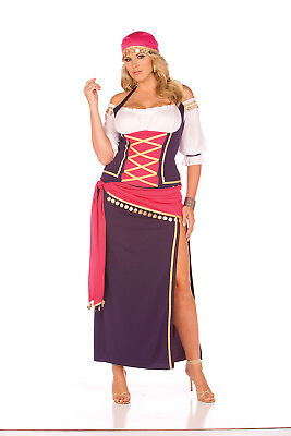 5-pc Gypsy Maiden 9225X Plus Size Elegant Moments Halloween Cosplay Costume - Gypsy Costume Plus Size