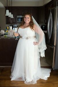 Wedding Dress, Veil & Sash