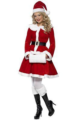 SMIFFY 36989 Weihnachtsfrau Miss Santa Nikolaus Christmas Karneval Damen Kostüm (Damen Miss Santa Kostüme)