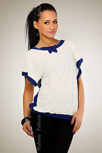 NEW ☼ Elegant Blouse ☼ Top Color Combinations Jumper Jersey Size UK 8-12 FK78