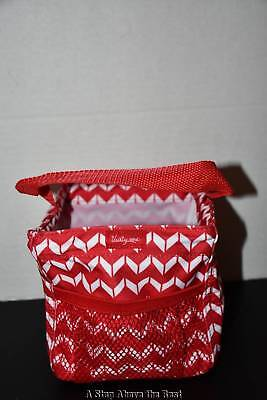 Thirty One Littles Carry All Caddy in Cool Red Chevron Dash - NEW