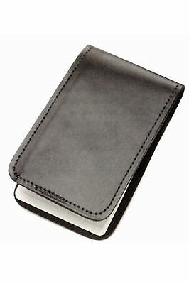 "Police Black Leather Duty Memo Book Note Pad Holder Cover Case Sleeve 3""x5"""