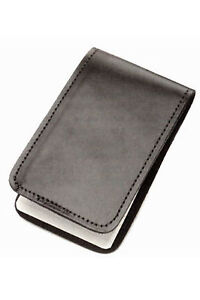 Police Black Leather Duty Memo Book Note Pad Holder Cover Case Sleeve 3