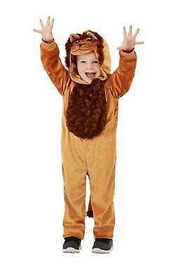 Kids Lion Costume Toddler Unisex Hooded Jumpsuit Boys Girls Halloween 1-2 3-4