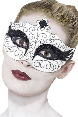 Women's Gothic White & Black Swan Face Eye Mask Fancy Dress Halloween Masquerade](White And Black Swan Halloween Costumes)