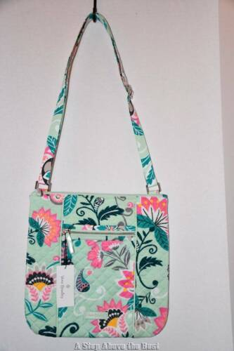 Vera Bradley Iconic Hipster in Mint Flowers #26016-N33 NWT