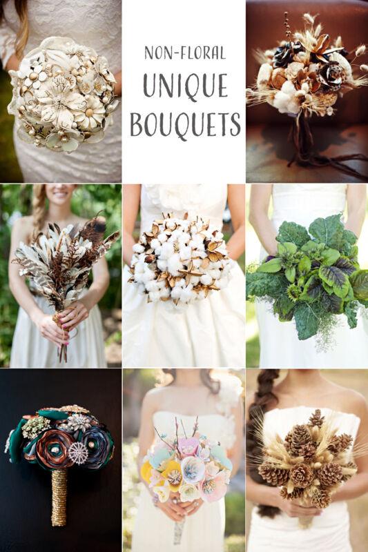 Wedding Bouquet Ideas Non Flower : Non floral wedding bouquet ideas