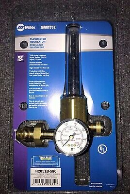 Miller Smith H2051b-580 Reg Flowmeter 50 Psi