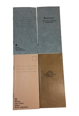 Vintage Day-timer Refills Planner Phone Directorynotes Organizers New Lot Of 4