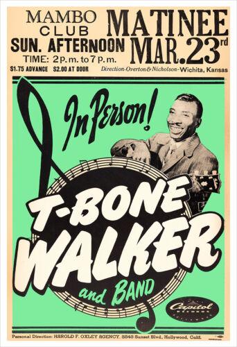 T-Bone Walker 1952 concert poster print