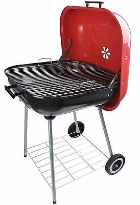 New Classic Large Square 25x25 Charcoal Barbecue Grill Portable BBQ Red/Black  (Large Bbq Grill)