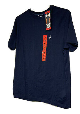 Nautica Men's Performance Crew Neck T-Shirt Color Navy Blue Size Medium NWT