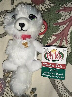 "Elf on the Shelf Pets Plushee Pals Mini Clip-On 4"" Arctic Fox New"