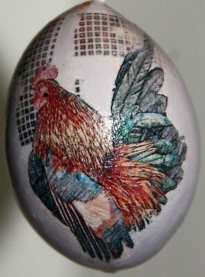 Used, gourd Easter egg, yard art or Christmas ornament with chicken, rooster, hen for sale  Shipping to Canada