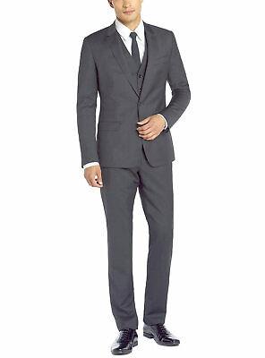 DTI GV Executive Italian Mens Vested Wool Suit 2 Button Jacket 3 Piece Tux Vest