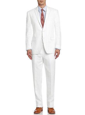 DTI BB Signature Italian Mens Suit Linen Two Button Jacket 2 Piece Modern (Mod Suit Jacket)
