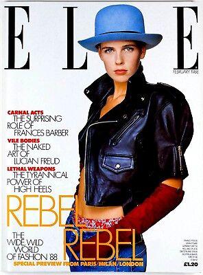 Jeny Howorth CDG Hans Feurer GAULTIER JUNIOR Bruce Oldfield QUANT Elle magazine